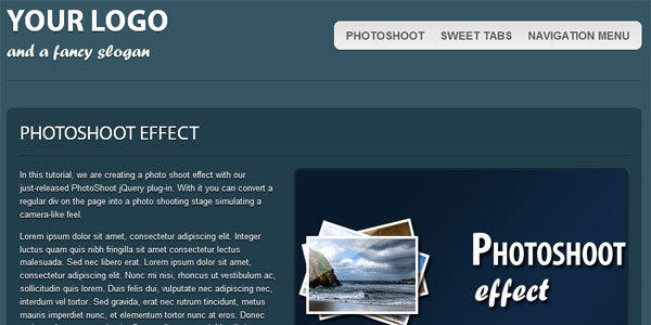 Free XHTML & CSS3 One-Page Template