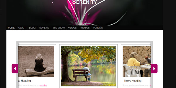 Serenity HTML5 and CSS3 Template