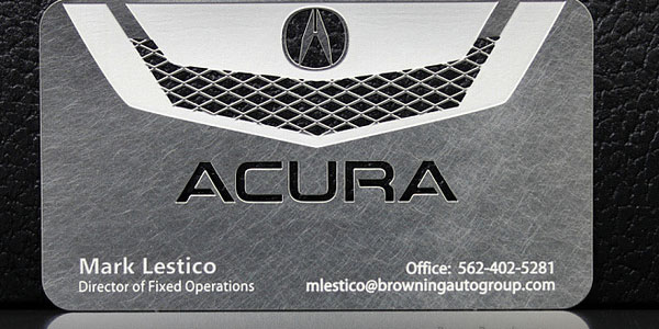 Awesome Acura Metal Business Card
