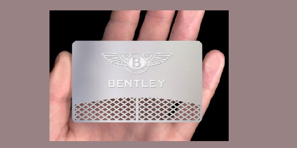 bentley metal business card 30 Great Looking Metal Business Cards
