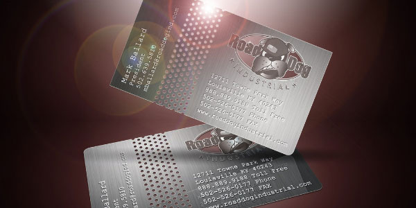 dotted metal business card 30 Great Looking Metal Business Cards