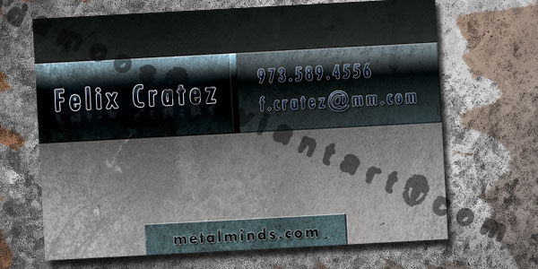 grey metal business card 30 Great Looking Metal Business Cards