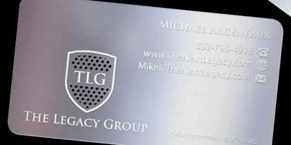 tlg metal business card 30 Great Looking Metal Business Cards
