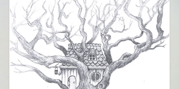tree house 60 Fantabulous Pencil Sketches