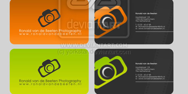 Design photographer logo, card