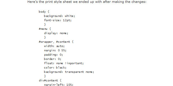 CSS Design Going To Print