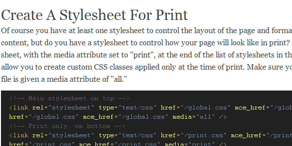 Optimizing Your Website Structure For Print Using CSS