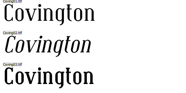 covington font Top 25 Free But Very Professional Fonts For Everyday Use In 2011