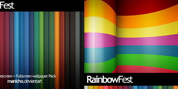 fest 30 Colorful Rainbow Backgrounds