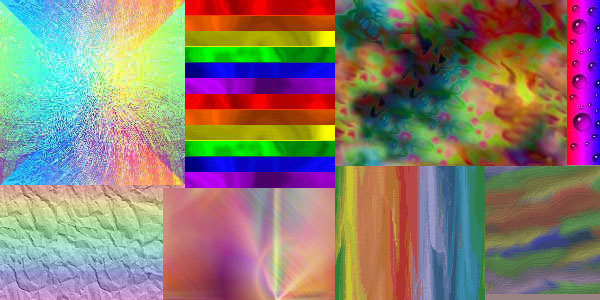 multiple 30 Colorful Rainbow Backgrounds