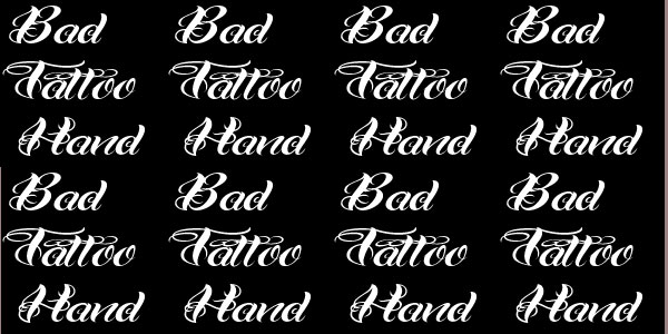bad tattoo font 25 Stunning Tattoo Fonts