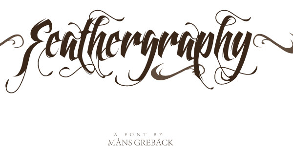 feathergraphy tattoo font 25 Stunning Tattoo Fonts