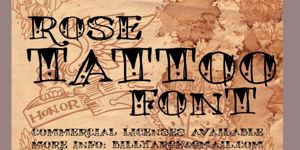 rose tattoo 25 Stunning Tattoo Fonts