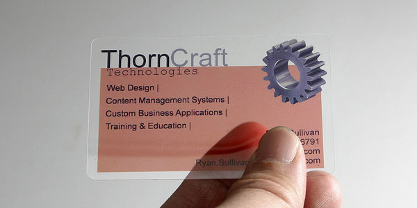 craft 30 Awesome Transparent Business Cards