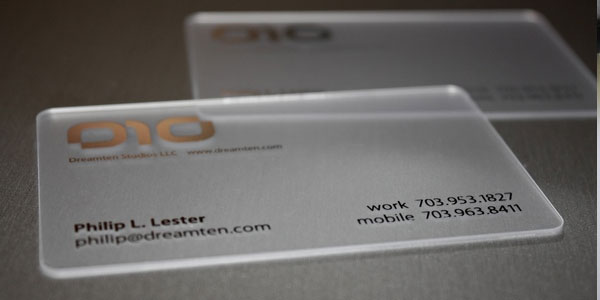 dig 30 Awesome Transparent Business Cards