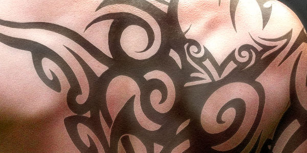 Back Tribal Tattoo for Men