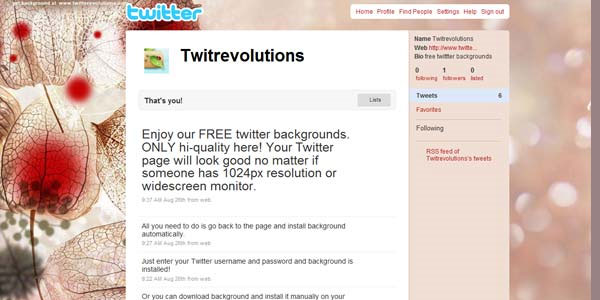 beautiful twitter background 25 Free Twitter Backgrounds