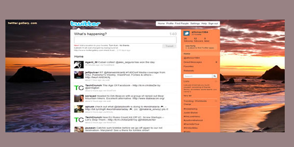 coast twitter background 25 Free Twitter Backgrounds