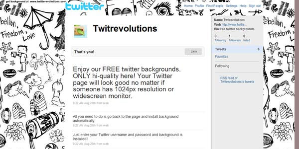 drawing twitter background 25 Free Twitter Backgrounds