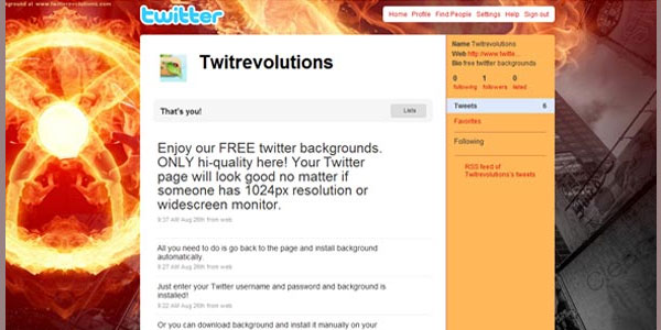 fire twitter background 25 Free Twitter Backgrounds