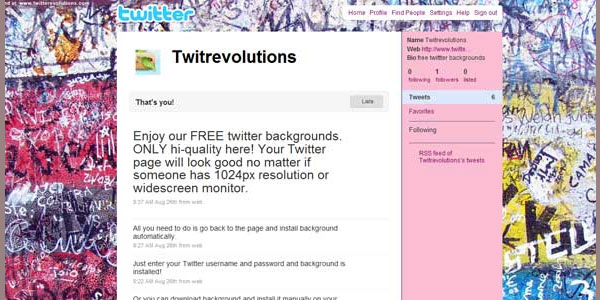 grungy twitter background 25 Free Twitter Backgrounds