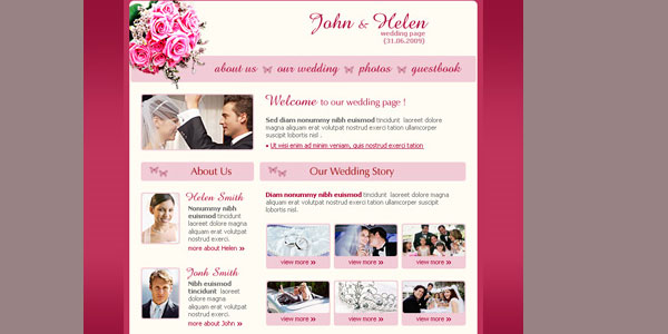 marrying online 20 Free Wedding Website Templates