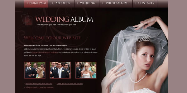 online wedding album 20 Free Wedding Website Templates
