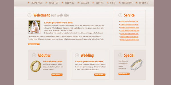 wedding details 20 Free Wedding Website Templates