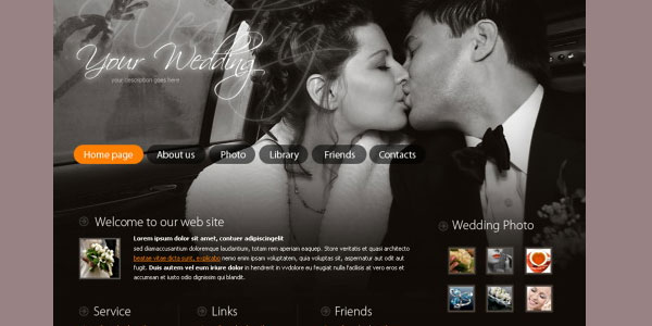 wedding photos 20 Free Wedding Website Templates