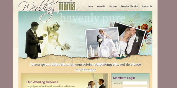 wedding planning 20 Free Wedding Website Templates