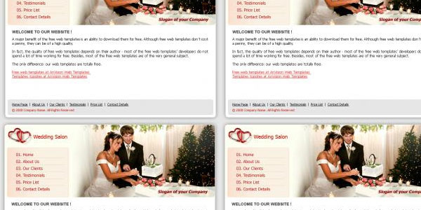 Free wedding layout