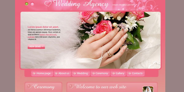 wedding website 20 Free Wedding Website Templates