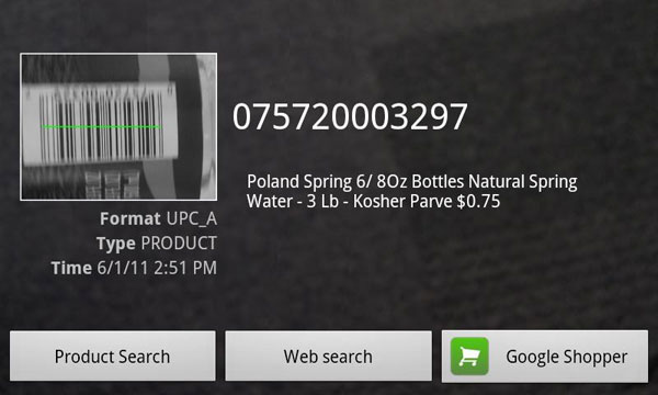 barcode scanner android 25 Coolest Android Apps