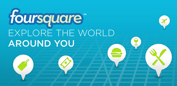 foursquare 25 Coolest Android Apps