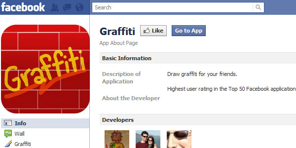 grafitti 20 Best Facebook Apps
