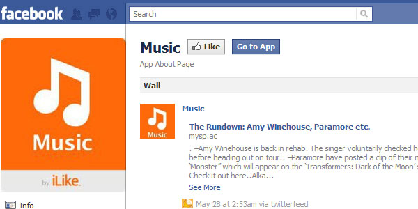 i like music facebook app 20 Best Facebook Apps