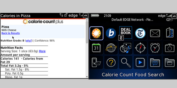 calorie count 60 Best Free BlackBerry Apps