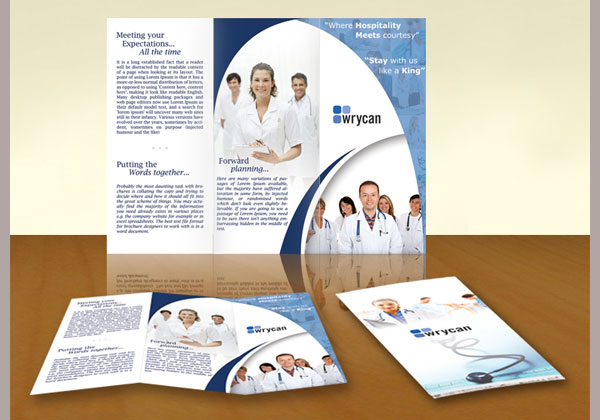 4 fold brochure template word