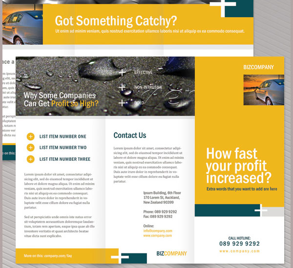 corporate brochure template 30 Creative Tri Fold Brochure Template Designs