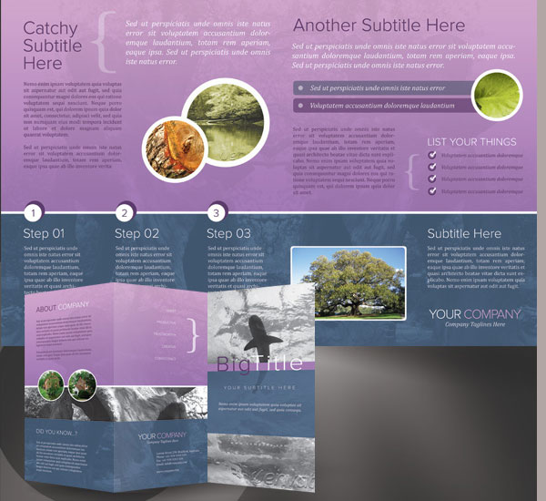 corporate trifold brochure 30 Creative Tri Fold Brochure Template Designs