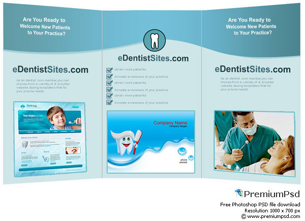 free high resolution dentist tri fold 30 Creative Tri Fold Brochure Template Designs