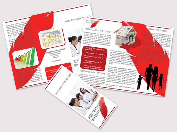 red trifold brochure design 30 Creative Tri Fold Brochure Template Designs