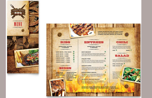 restaurant take out brochure template design 30 Creative Tri Fold Brochure Template Designs