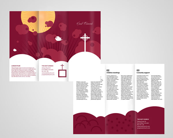Local Church Trifold Brochure