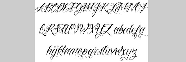 cool tattoo font 25 Cool Tattoo Fonts