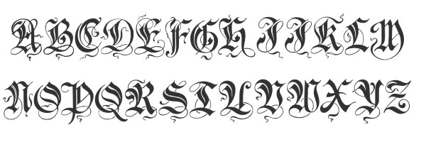 25 Awesomely Cool Tattoo Fonts