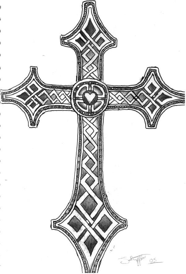 25 brilliant cross tattoos for men celtic inspired cross publicscrutiny Gallery