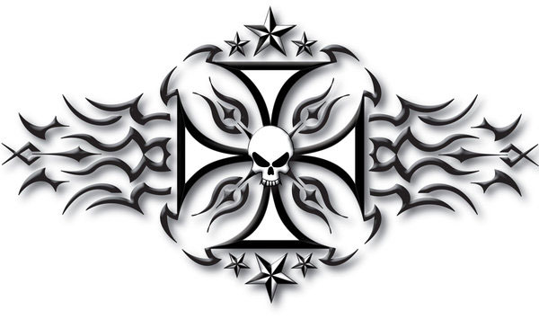Tribal Iron Cross Tattoo
