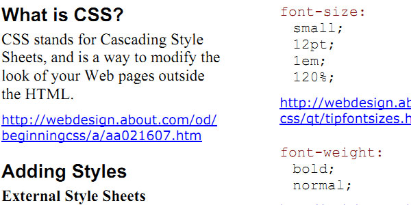 Basic CSS Cheat Sheet