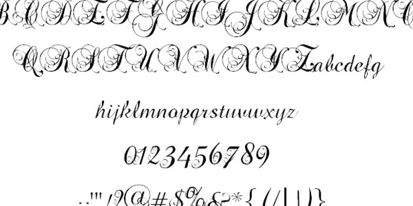 Cool Cursive Fonts 25 Awesome